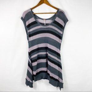 FREE PEOPLE Open Knit Sleeveless Sweater Tunic M